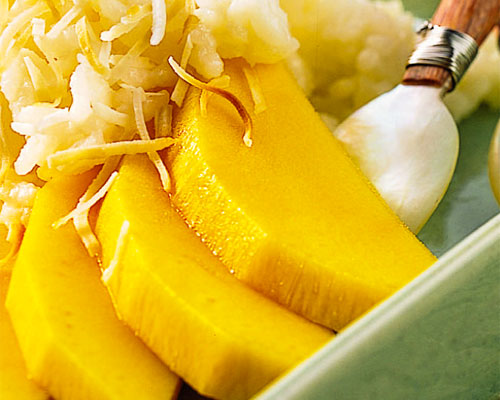 CREAMY RICE WITH MANGO