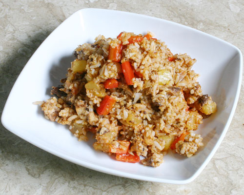 FRIED RICE WITH SARDINES AND PINEAPPLE