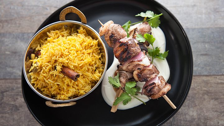 Pickled Rice with Duck Kebabs
