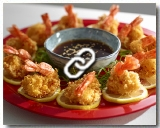 Crispy lemon garlic shrimp in Teriyaki sauce