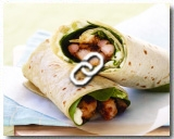 Chicken Wrap with Satay sauce